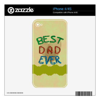 BEST DAD EVER iPhone Skin Skin For iPhone 4
