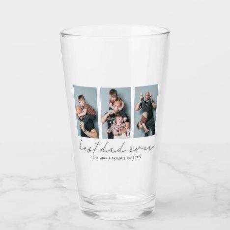 Best Dad Ever Keepsake Multi Photo Glass
