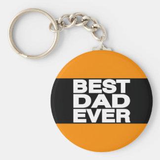 Best Dad Ever Lg Orange Basic Round Button Keychain