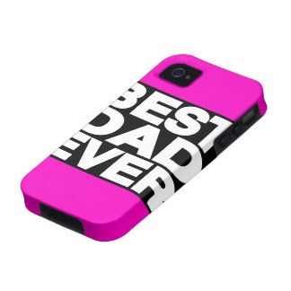 Best Dad Ever Lg Pink iPhone 4 Case