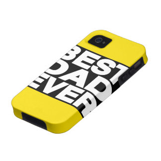 Best Dad Ever Lg Yellow iPhone 4 Case