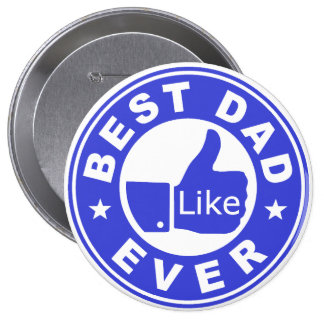 Best Dad Ever Like - Blue Button