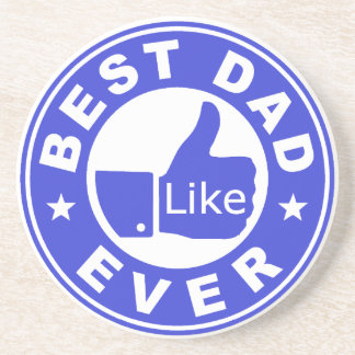 Best Dad Ever Like - Blue Coaster