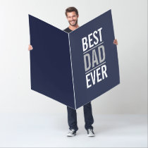 Best Dad Ever | Modern Navy Blue Card