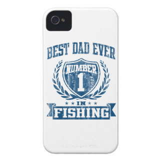 Best Dad Ever Number One In Fishing Case-Mate iPhone 4 Case