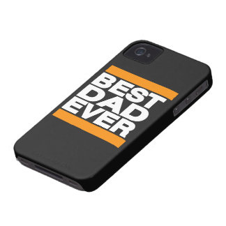 Best Dad Ever Orange iPhone 4 Case-Mate Case