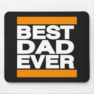 Best Dad Ever Orange Mouse Pad