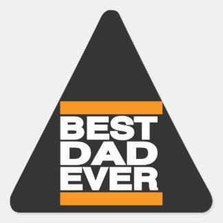 Best Dad Ever Orange Triangle Sticker
