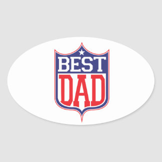 Best Dad Ever Oval Sticker