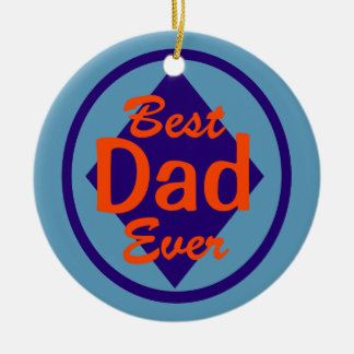 Best Dad Ever Personalized Ornament