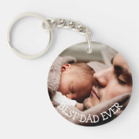 Best Dad Ever Personalized Photo Key Chain