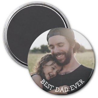 Best Dad Ever Personalized Photo Magnet