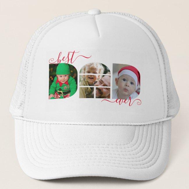Best DAD Ever Photo Collage Trucker Hat