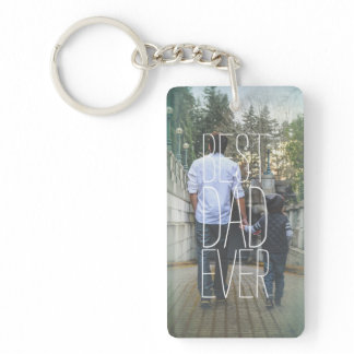 Best Dad Ever Photo Modern Keychain