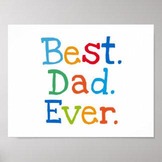 Best dad ever poster