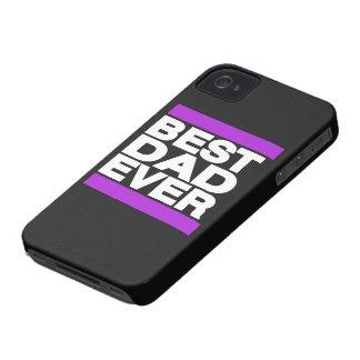 Best Dad Ever Purple iPhone 4 Case-Mate Case