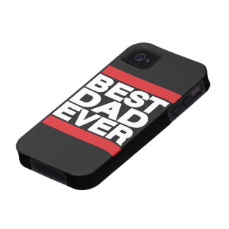 Best Dad Ever Red Case-Mate iPhone 4 Covers