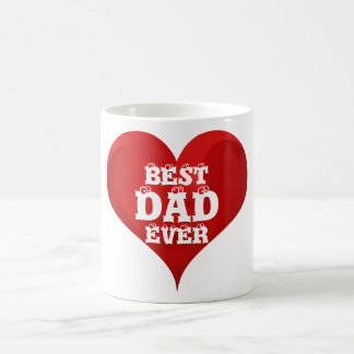 Best Dad Ever Red Heart Love Mug
