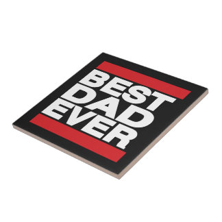 Best Dad Ever Red Tiles