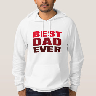 Best Dad Ever Red White Father's Day Hoodie