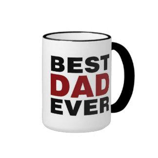 BEST DAD EVER RINGER MUG