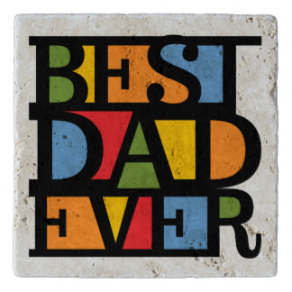 BEST DAD EVER stone trivets