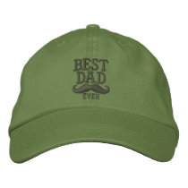 Best Dad Ever Super Dad Mustache Embroidery Embroidered Baseball Hat