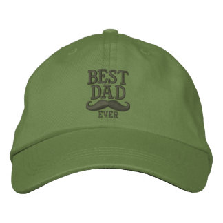 Best Dad Ever Super Dad Mustache Embroidery Embroidered Hat