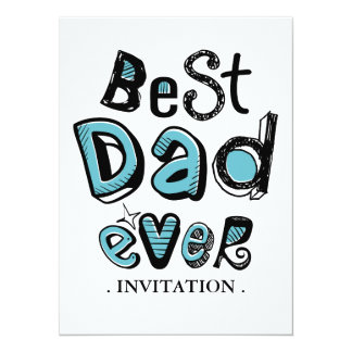 Best Dad Ever Typography Card