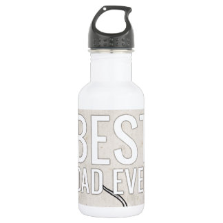 Best Dad Ever with antlers 18oz Water Bottle