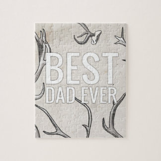 Best Dad Ever with antlers Puzzle