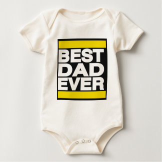 Best Dad Ever Yellow Baby Bodysuit