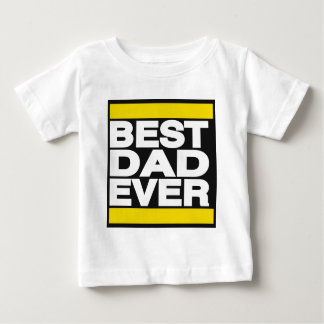 Best Dad Ever Yellow Baby T-Shirt