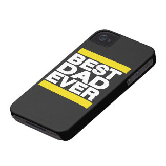 Best Dad Ever Yellow iPhone 4 Case-Mate Cases