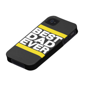 Best Dad Ever Yellow Vibe iPhone 4 Cases
