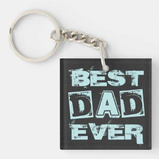 Best Dad Father's Day Chalkboard Keychain