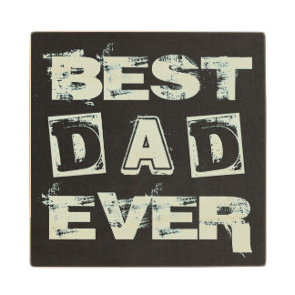 Best Dad Father's Day Chalkboard Wood Coaster