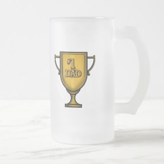 Best Dad Fathers Day Gifts Frosted Glass Beer Mug