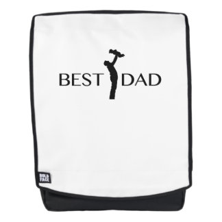 Best Dad  Gift For Father Day  Daddy Papa Backpack