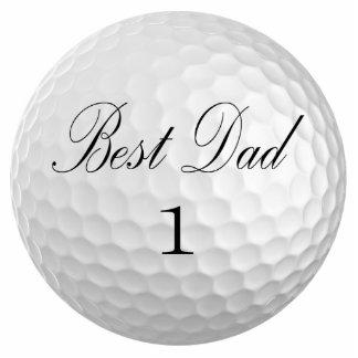 Best Dad Golf Ball Sculpture Standing Photo Sculpture