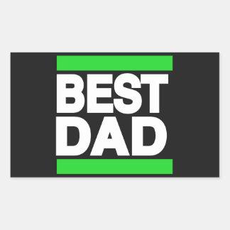 Best Dad Green Rectangular Sticker