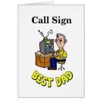 Best Dad Ham Radio Father's Day Card
