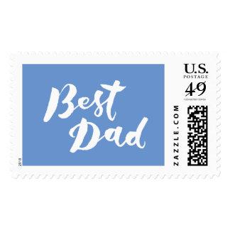 Best Dad - Hand Lettering Design Postage