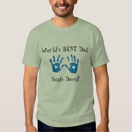 Best dad (handprints) T-Shirt