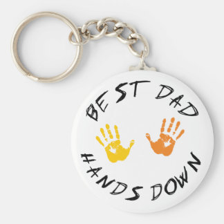 Best Dad Hands Down Gift Keychain