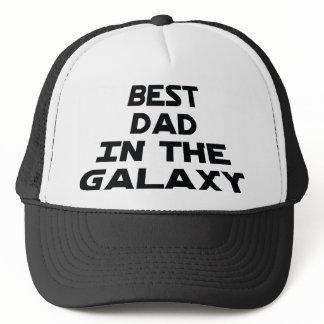 Best dad in the galaxy trucker hat