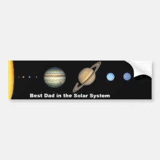 Best Dad in the Solar System Bumper Sticker Car Bumper Sticker