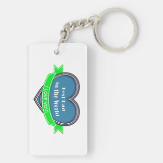 Best Dad in the World Acrylic Key Chain