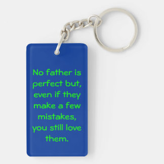 Best DAD in the world (Almost) Rectangular Acrylic Key Chains