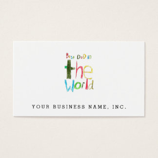 best dad in the world business card